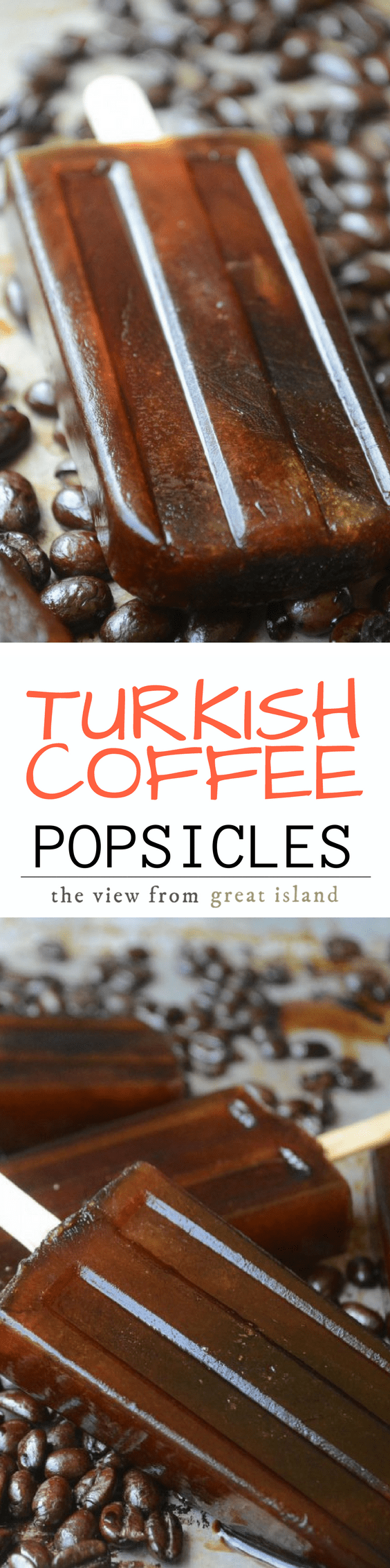 REFRESHING AND HEALTHY TURKISH COFFEE POPSICLES ~ decidedly adult frozen treats! | ice cream | low calorie | iced coffee |
