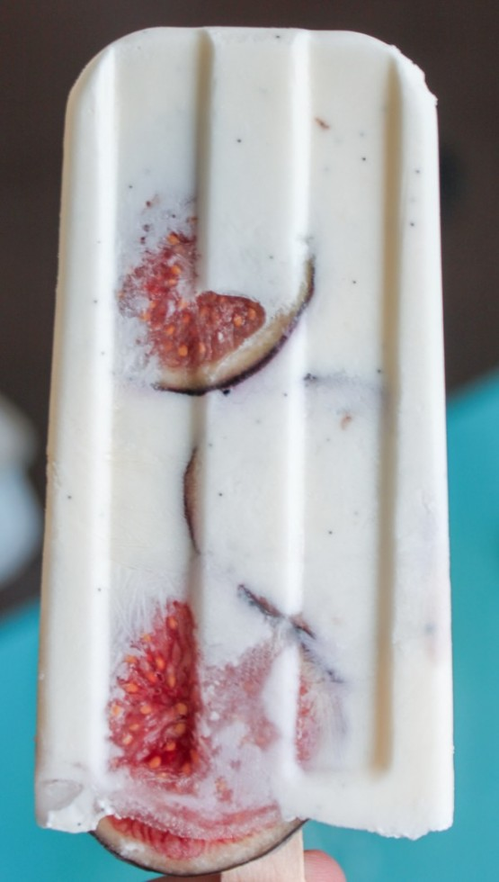 Vanilla Fig Popsicles
