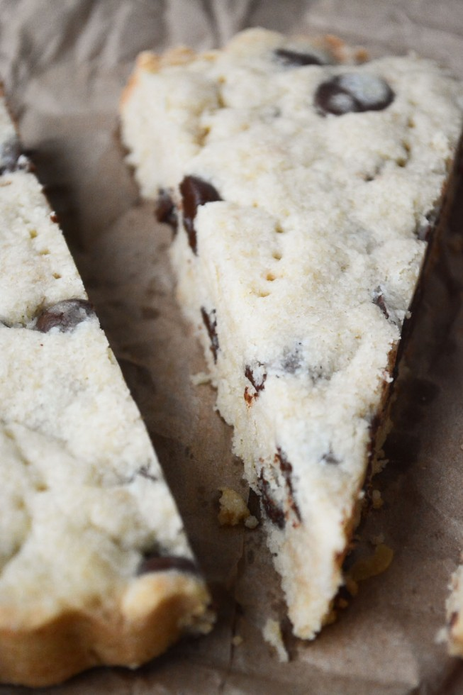 buttery and tender Scottish shortbread with chocolate chips