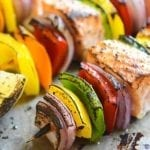 Rainbow Salmon Skewers