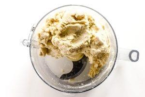 scone dough in a food processor