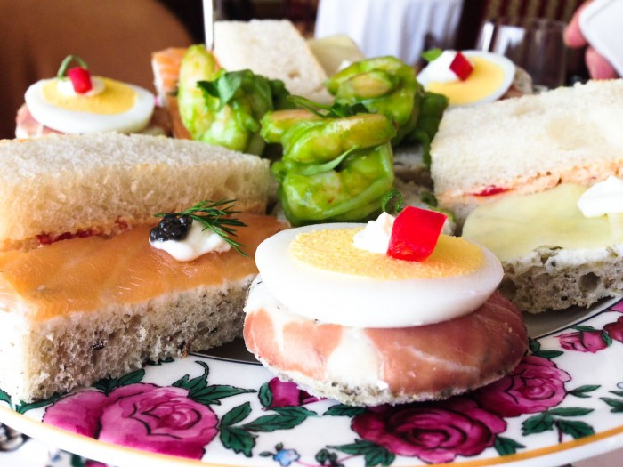 tea sandwiches at the Langham Huntington