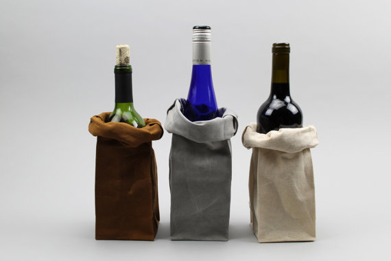 American Artisans: Italic reusuable canvas wine bags