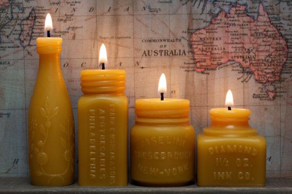 American Artisans PollanArts handmade Beeswax candles