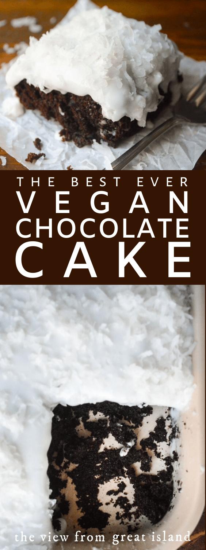 vegan chocolate cake pin