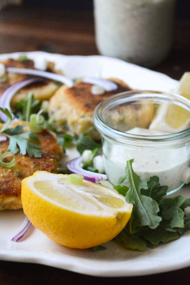 Irish Cod and Potato Cakes with homemade tartar sauce