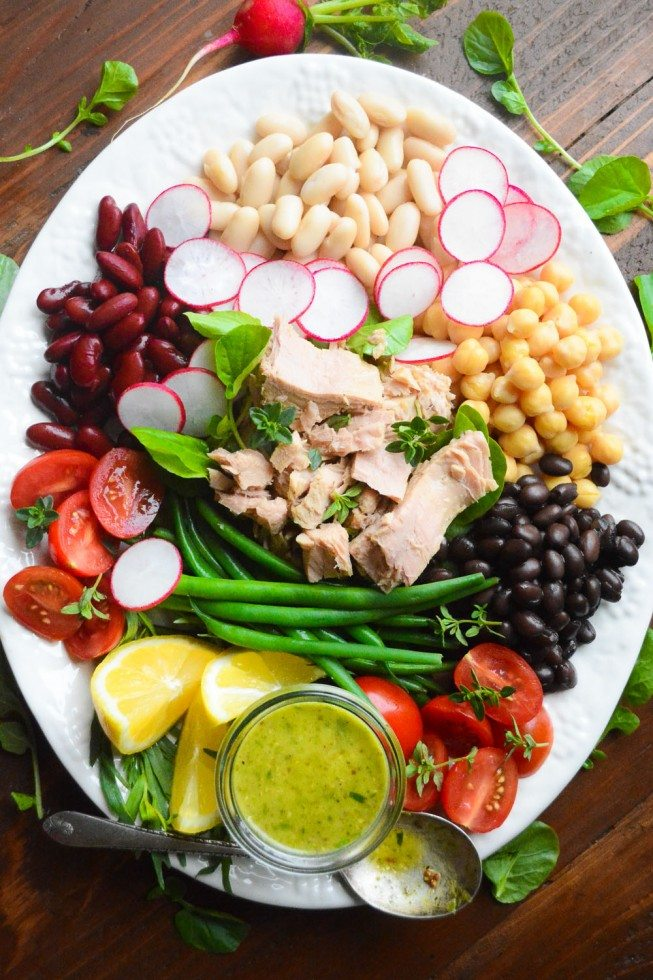 Mediterranean Tuna Salad platter