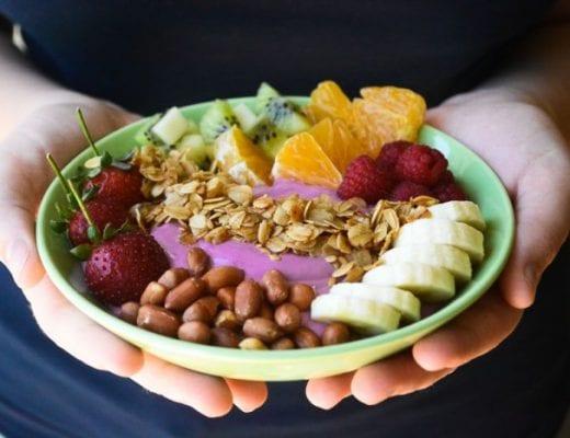 beautiful breakfast smoothie bowl