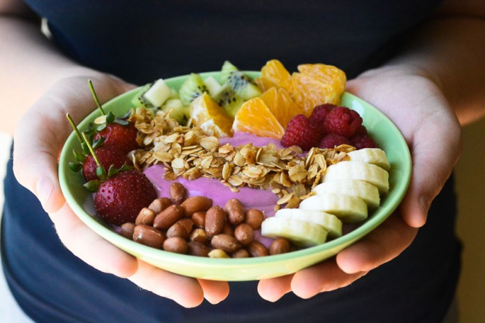 beautiful breakfast smoothie bowl