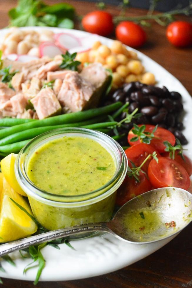 tuna and bean salad with tarragon vinaigrette