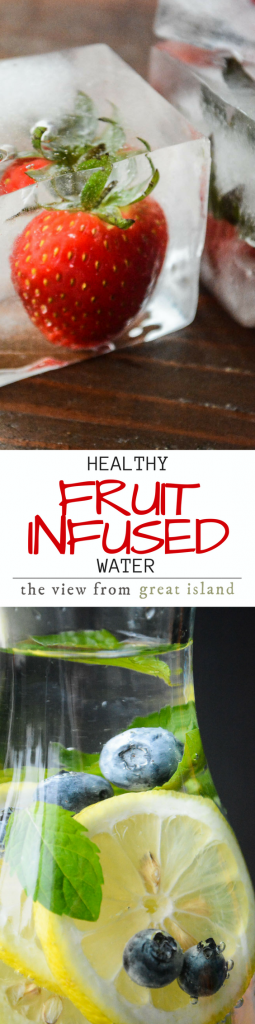 How to Make Healthy Infused Water ~ we all know it's important to drink lots of water, but it's not always easy! I'll show you how to make your own flavor-infused water that will keep you deliciously hydrated! | fruit | summer beverage | drinks | water