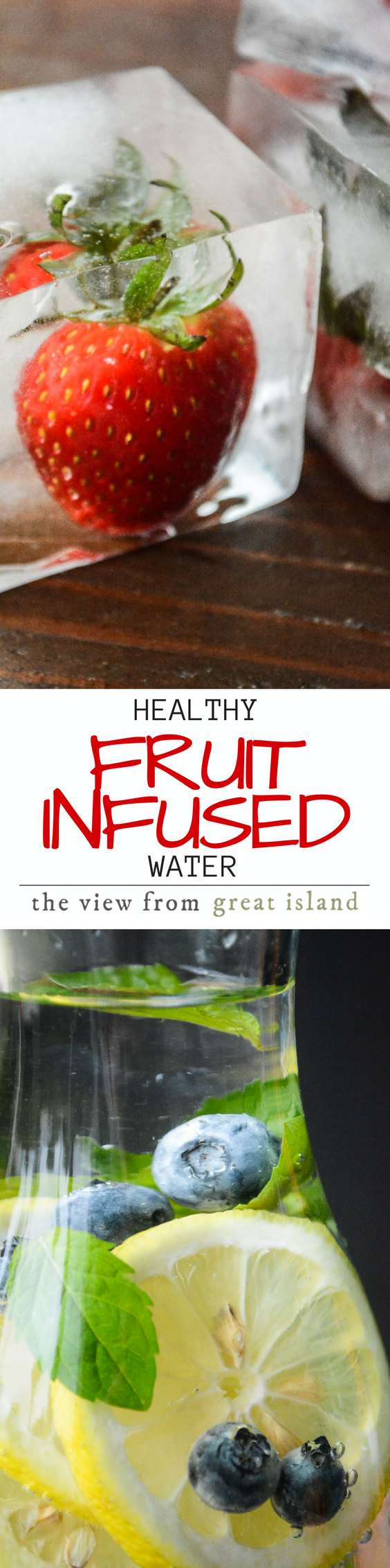 How to Make Healthy Infused Water ~ we all know it's important to drink lots of water, but it's not always easy!  I'll show you how to make your own flavor-infused water that will keep you deliciously hydrated! #water #beverage #healthydrink #hydration #fruit #ice #tvfgi #fruitwater #sugarfree #allnatural #strawberryice #weightwatchers #glutenfree #paleo #whole30 via @https://www.pinterest.com/slmoran21/