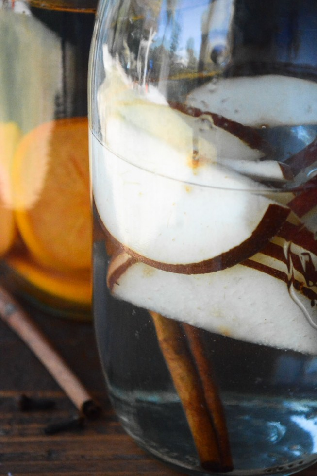 fall inspired infused waters