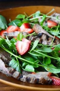 strawberry jalapeno steak salad