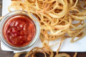 Sweet Vidalia Onion Strings make the perfect appetizer