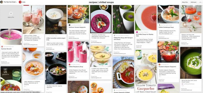 chilled soup Pinterest board