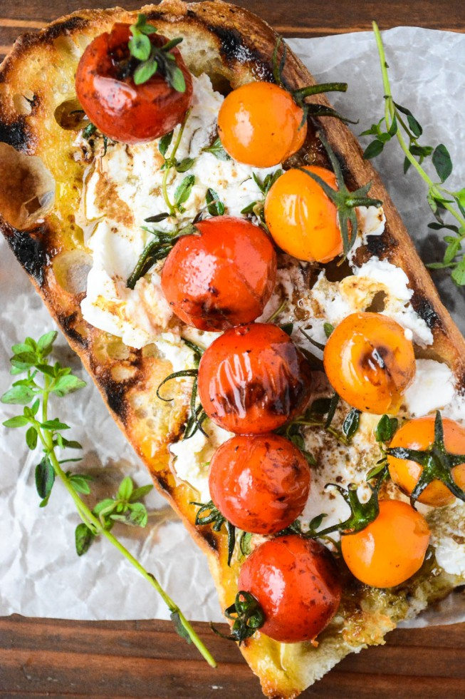 Grilled Cherry Tomato Bruschetta | The View from Great Island