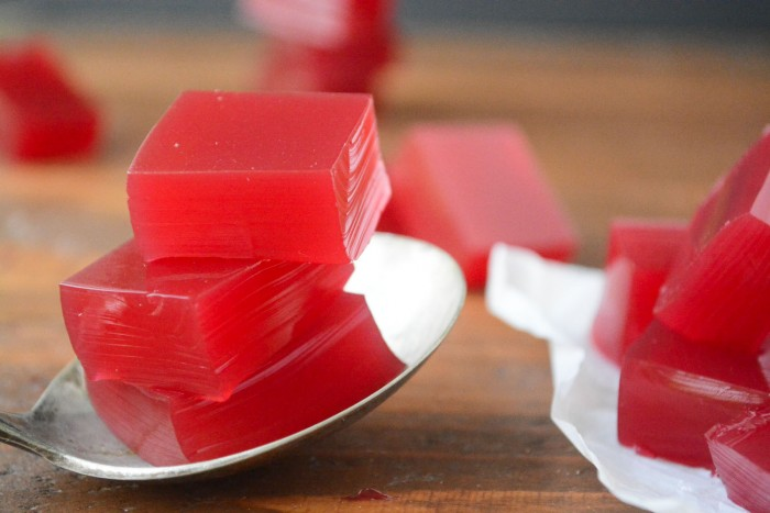 Healthy homemade 'jello' using fruit juice!