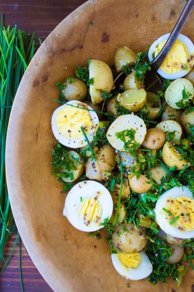 Ensalada de Huevos y patatas para veranear