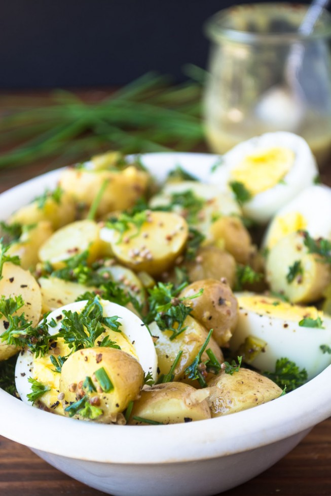 A wonderful no-mayo potato salad!