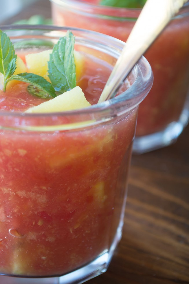 Refreshing Watermelon and Tomato Gazpacho