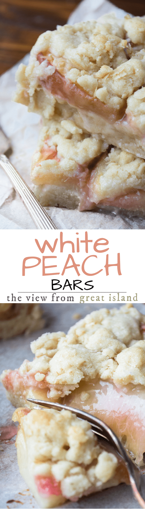 White Peach Bars ~ these are thing things summer dreams are made of, with delicate and juicy white peaches baked up in a butter golden shortbread crumble crust !