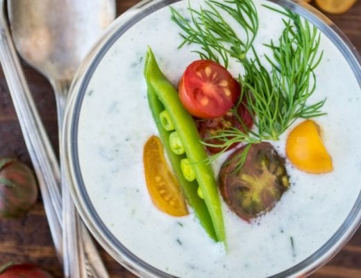The ultimate hot weather refresher --- Iced Cucumber and Yogurt Soup