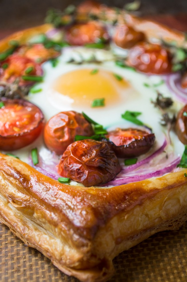 Baked Tomato and Egg Breakfast Tarts