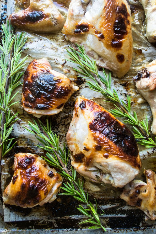 buttermilk roast chicken with rosemary