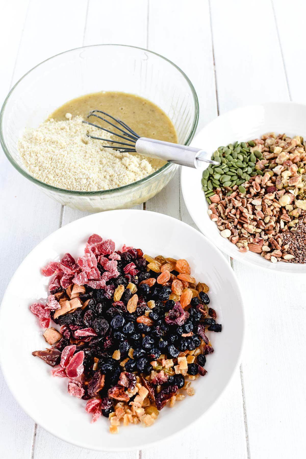 making paleo fruit and nut bread