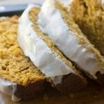 Maple Glazed Pumpkin Bread