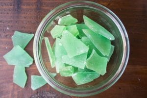 A pile of realistic looking sea glass candy
