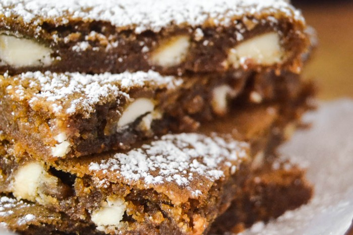 White Chocolate Chip Gingerbread Squares