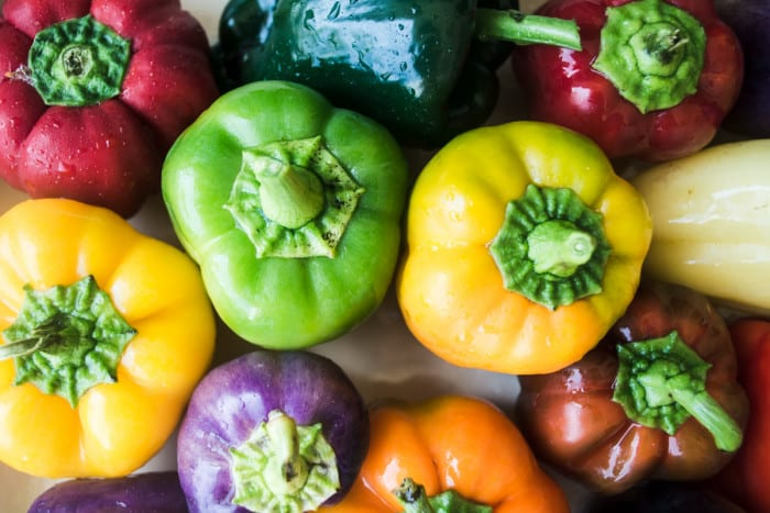 Colorful bell peppers ~ theviewfromgreatisland.com