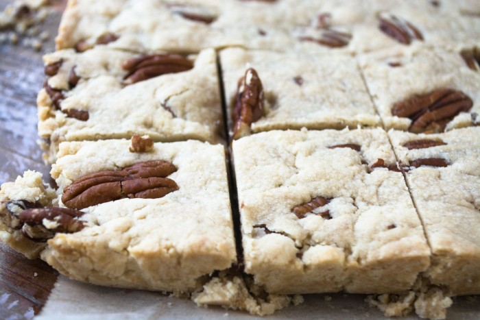 Butter Pecan Shortbread, easy as pie!