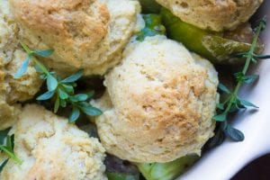 Luscious end of summer Green Tomato Cobbler