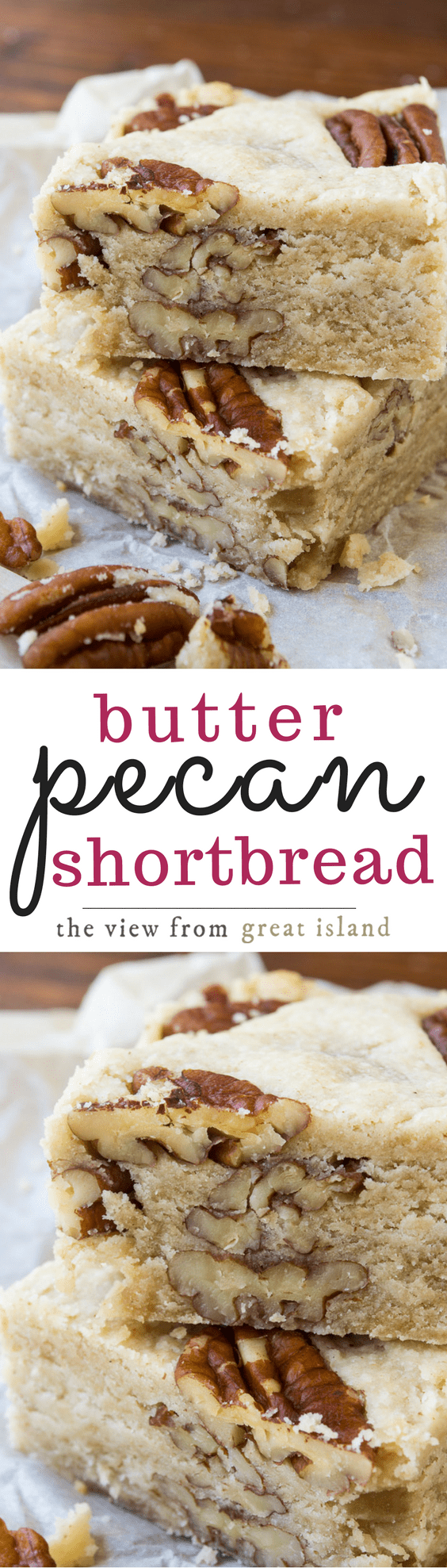 Butter Pecan Shortbread is a classic buttery shortbread loaded up with crunchy pecans ~ yum!