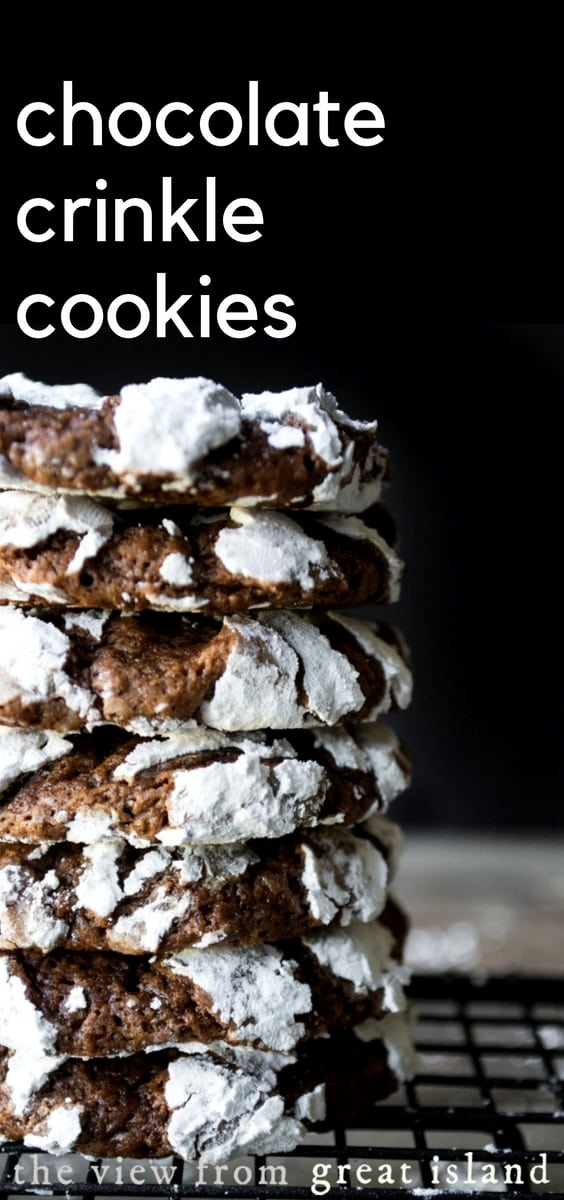 Reader's Recipes: Chocolate Crinkle Cookies pin