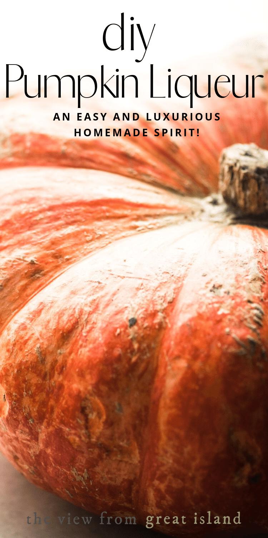 DIY pumpkin liqueur pin