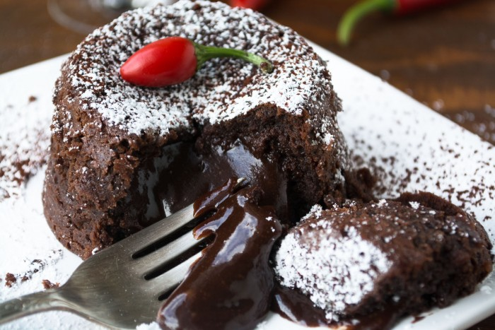 An easy and impressive molten chocolate dessert