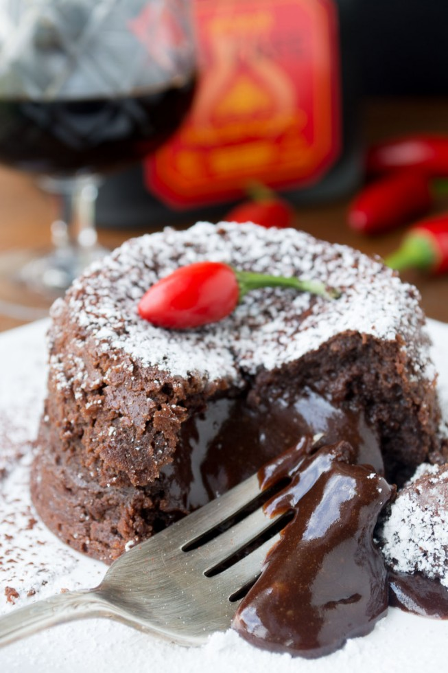 Patron Incendio Hot Lava Cake
