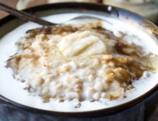Healthy Overnight Steel Cut Oatmeal with Whiskey Butter
