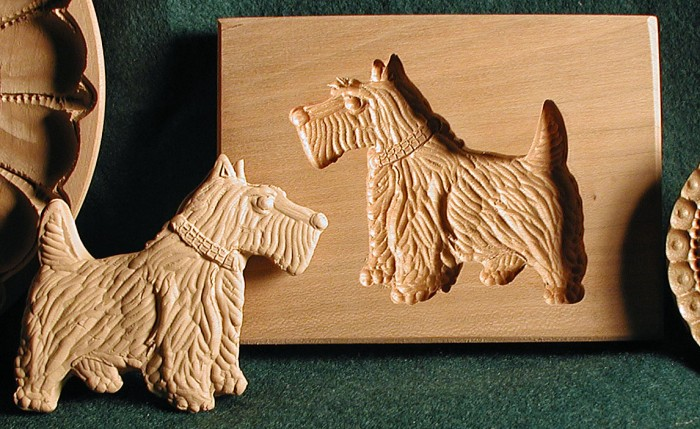 American Artisan Gene Wilson's hand carved Scottish shortbread mold