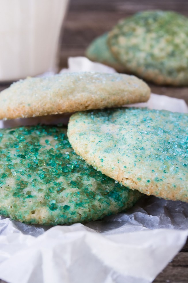 Swedish Sugar Cookies with colored sugar