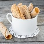 Delicate Almond Lace Wafers can easily be made gluten free