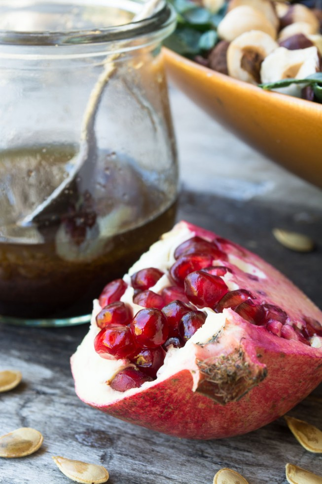 Pomegranate Allspice Dressing made with O Olive Oil Pomegranate Vingear