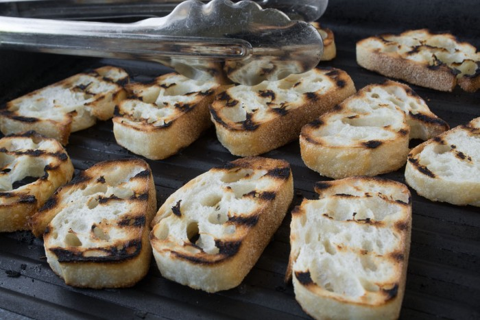 Grilled baguette bread