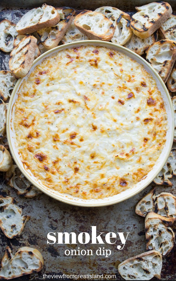 Smokey Onion Dip Made with sweet onions and lots of smoked cheese