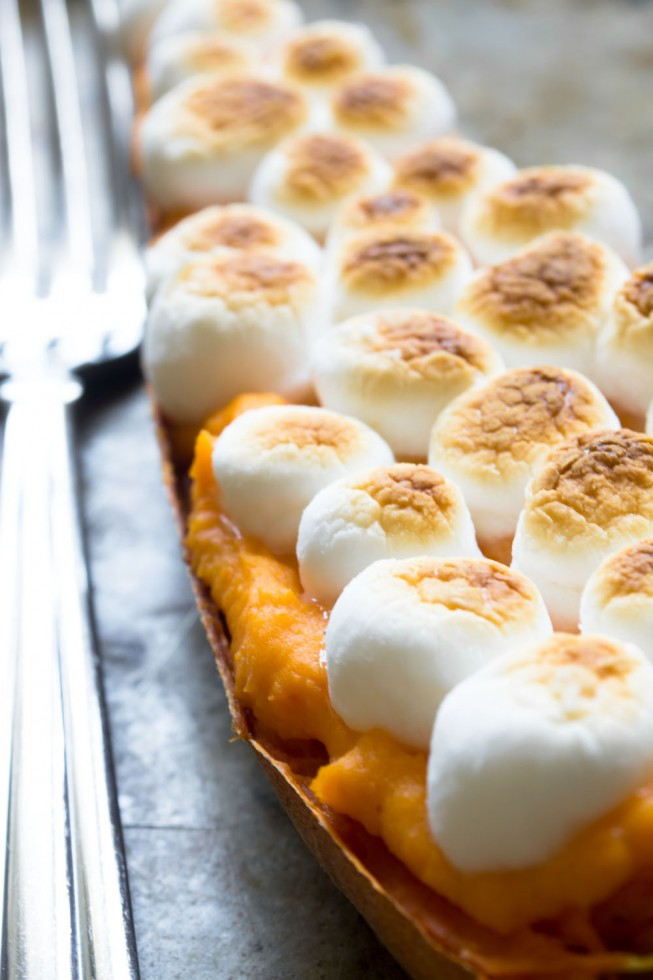 Twiced Baked Sweet Potatoes are a fun variation of the classic yam casserole