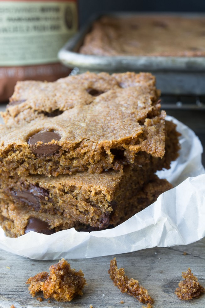 whole wheat gingerbread blondies